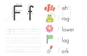 Kindergarten Alphabet Capital And Small Letter F Worksheet For ...