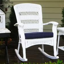 gallery of semco plastics 10 lb capacity white resin outdoor patio rocking tortuga outdoor portside plantation wicker rocking chair wicker