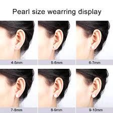 6mm Stud Earrings Actual Size Dezaband Com