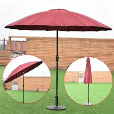 costway outdoor 9ft patio umbrella sunshade cover market garden cafe crank tilt burdy 0