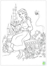 Beauty And The Beast Coloring Pages Belle From Beauty And The Beast