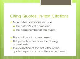 Citing A Quote Mla Mesmerizing Using Quotes Barry Using Quotes  Literary Essays Require The Use