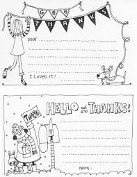 Print off the thank you card on the colored paper of your choice and add a little bit of your own flourish with anything from your kids' colored pencils to some. Free Printable Kid Thank You Cards Skip To My Lou