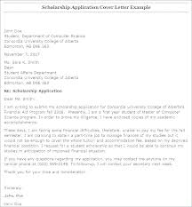 Sample Scholarship Request Letters Scholarship Cover Letter Examples Cover Letter Sample For