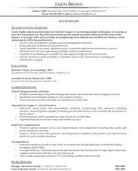 Gallery Of Accounting Resume Examples