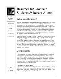 Professional Resume Graduate School