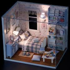 dollhouse lighting. Handmade Doll Houses Miniature Dollhouse Lighting Wooden House Room Box Miniatures Diy Kit Furniture Toy Room-in From Toys O