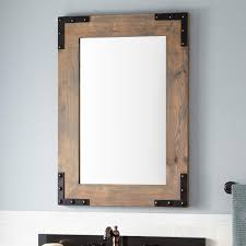 24 bonner reclaimed wood vanity mirror gray wash pine
