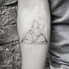 Geometric Mountain Tattoo Bicemsinik Tattoos Geome