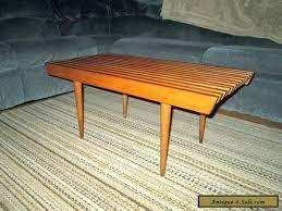 wood slat bench slat bench vintage mid century danish modern slat bench coffee table stand real wood slat bench