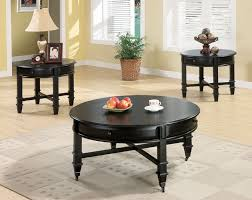unique black round coffee table sets ideas interior design fragile white cup red fresh fruits apple