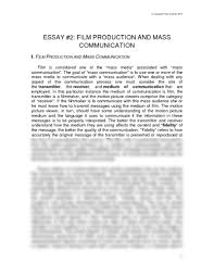 essay film production and mass communication pdf  essay 2 film production and mass communication pdf communication theater arts 1003 scheide at university of arkansas fayetteville studyblue