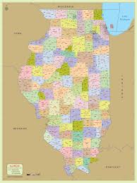 buy illinois zip code with counties map