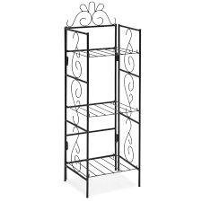 best choice products 3 tier decorative free standing storage rack for diy organization outdoor