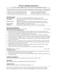 Technical Support Engineer Job Description Template Resume Format