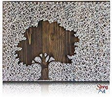 How to make state string art using embroidery floss, small nails, craft  glue, and a wooden board. Customize this wall art to your beloved home  state!