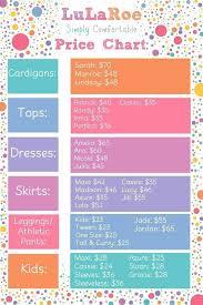 Lularoe Amelia Size Chart Lularoe Price Chart 2017 Elegant