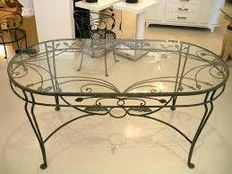 wrought iron and glass coffee table wrought iron glass coffee table coffee table vintage oval glass