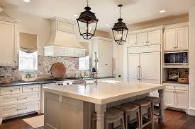 Kitchen with Red Brick Backsplash