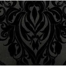 Black Pattern Wallpaper Inspiration Roll Black Wallpaper Decor The Home Depot