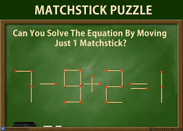 can you solve these 5 matchstick puzzles riddles genius matchstick puzzle riddles with answer move only one matchstick and make the equation correct