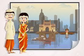 Maharashtrian Wedding Couple Stock Vector