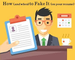 fake resume. How to Fake It on Your Resume Treeline Sales Blog