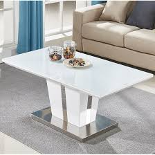 memphis coffee table in white high