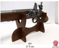 Handgun Display Stand Wooden Pistol Display Rack Holder Handgun Colonial Antique Stand 54