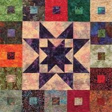 Free quilt pattern for batiks—and Jelly Rolls! - Stitch This! The ... & Detail of Purple Daze batik quilt--free download Adamdwight.com