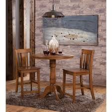 jt335 dining table 36 round pecan dining table with pedestal base