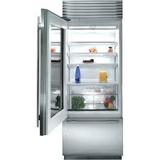 clear glass refrigerator modern minimalist kitchen with mini under cabinet refrigerator glass doors