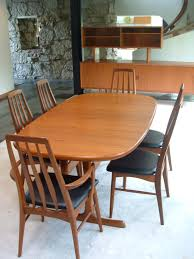 wondrous black leather back chairs facing wooden dining table as teak room set also placed across simple cabinets fabulous kitchen tables