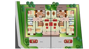 High Quality Two Bedroom Semi Detached House Plan Plans Pleasing 3 Ghana