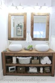rustic wood framed mirrors. Upcycling Idea DIY Reclaimed Wood Framed Mirrors With Bathroom Plan 14 Rustic .