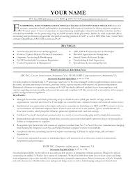 Sample Accounts Payable And Receivable Resume Cover Letters For