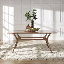 Nadine Mid-Century Walnut Finish Rectangular Dining Table by iNSPIRE Q  Modern - Free Shipping Today - Overstock.com - 24360005
