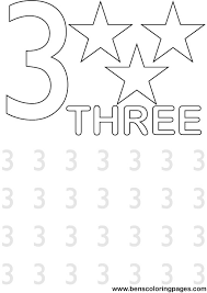 Small Picture Learning the numbers for preschool coloring page