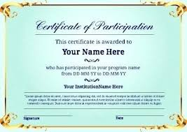 How To Make Certificate Of Participation Design