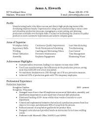 Manufacturing Supervisor Resume Custom Awesome Production Supervisor Resume Examples Resume Templates