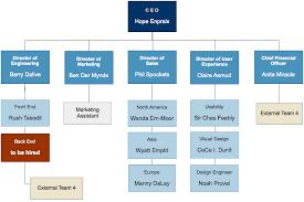 Example Of Company Organizational Chart Kairo9terrainsco
