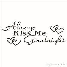 Immer Küss Mich Englisch Sprüche Wandaufkleber Liebe Paar Haushalt Süße Schlafzimmer Wohnzimmer Pvc Tapete