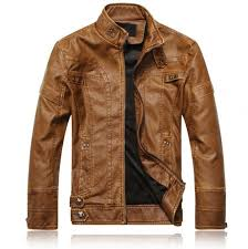 brand leather jacket men europe and america fashion motorcycle leather jacket slim fit male outwe