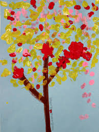 Simple Art Projects for Kids: Cotton Swab Tree Craft