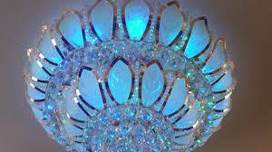 lighting swarovski crystal chandelier led light led bulb color changing chandelier