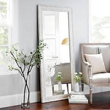 Long length mirror Modern Ornate Distressed Cream Mirror 307x647 In Kirklands Floor Mirrors Full Length Mirror Kirklands