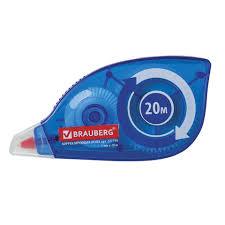 <b>Корректирующая лента BRAUBERG</b> 5 мм х 20 м, корпус синий ...