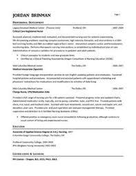 ER Nurse Resume Example