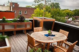rooftop furniture. Small Space Rooftop Deck With Dining Furniture