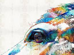 quarter horse painting colorful horse art a gentle sol sharon mings by sharon